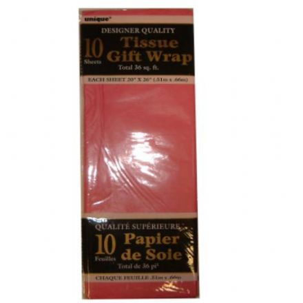 Hot Pink Tissue Paper 10 Sheet Pack
